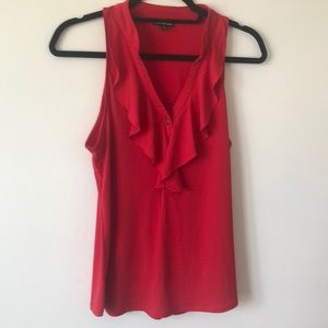 Red ruffle Express top